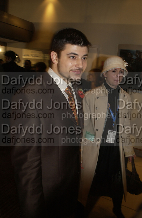 Stanislav Ianevski. World premiere of Harry Potter and the Goblet of Fire. Odeon Leicester Sq and afterwards at then Natural History Museum. London. 6 November 2005.  2005. ONE TIME USE ONLY - DO NOT ARCHIVE © Copyright Photograph by Dafydd Jones 66 Stockwell Park Rd. London SW9 0DA Tel 020 7733 0108 www.dafjones.com