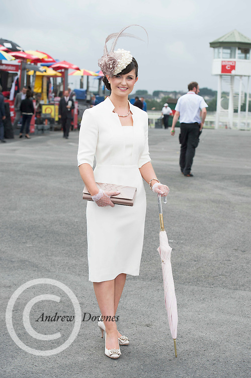 31/07/2014 Repro Free Michelle Gardner Ballyclough at the Anthony Ryans Best Dressed Ladies day  at the Galway Races Summer Festival <br />  .Photo:Andrew Downes
