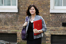 © Licensed to London News Pictures. 19/02/2019. London, UK. Claire Perry - Minister of State at Department for Business Energy and Industrial Strategy arrives in Downing Street for the weekly Cabinet meeting. Photo credit: Dinendra Haria/LNP