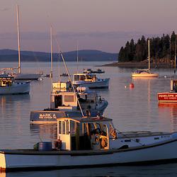 Bar Harbor, ME.Fishing boats in Bar Harbor.