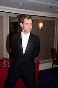 JUDE LAW, The Laurence Olivier Awards,The Grosvenor House Hotel, Park Lane. London.   21 March  2010