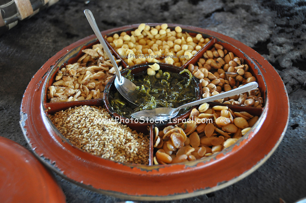 Myanmar cuisine a snack of nuts and dried fruit
