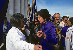 Diane Feinstein At Now Rally (National Organization For Women)