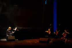 April 17, 2018 - SãO Paulo, Brazil - SÃO PAULO, SP - 17.04.2018: SHOW DE RICHARD CLAYDERMAN EM SP - Richard Clayderman on stage at Tom Brasil presenting the 40th Annyversary Tour concert show. (Credit Image: © Teca Lamboglia/Fotoarena via ZUMA Press)