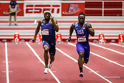 American Track League<br /> ESPN Indoor #2 track and field meet<br /> Burke, Eaddy, 60m
