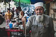 Yangon, Myanmar - October 22, 2011: Portrait of a Muslim man and military veteran in Yangon.