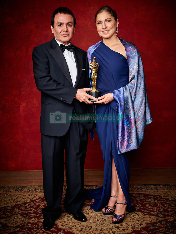 Feb 27, 2017 - Hollywood, California, U.S. - FIROUZ NADERI and Anousheh Ansari accepting for Ashgar Farhadi with the Oscar for Best foreign language film of the year, for work on The Salesman from Iran during The 89th Oscars at the Dolby Theatre. (Credit Image: © Jeff Lipsky/AMPAS/ZUMAPRESS.com)