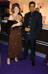 AMBER NUTTALL and SATYAJIT CHATTERJEE at The British Red Cross London Ball - H2O The Element of Life, held at The Room by The River, 99 Upper Ground, London SE1 on 17th November 2005.<br /><br />NON EXCLUSIVE - WORLD RIGHTS