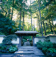 The Portland Japanese Garden, one of the most authentic found outside of Japan, is in Forest Park in downtown Portland