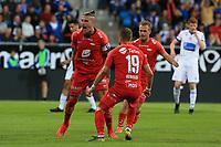 Fotball , 15. juni 2019 , Eliteserien,<br />Haugesund - Brann Bergen<br />Vito Wormgoor fra Brann Bergen celebrates kåring først mål mot Haugesund.<br />Foto: Andrew Halseid Budd , Digitalsport