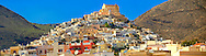 The Venitian City qurter of Ano Syros topped by the Catholic basilica of San Giorgio,  Syros [ ????? ] , Greek Cyclades Islands