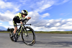 March 7, 2018 - Saint Etienne, France - SAINT-ETIENNE, FRANCE - MARCH 7 : CHAVES RUBIO Jhoan Esteban  (COL)  of Mitchelton - Scott in action during stage 4 of the 2018 Paris - Nice cycling race, an individual time trial over 18,4 km from La Fouillouse to Saint-Etienne on March 07, 2018 in Saint-Etienne, France, 7/03/2018 (Credit Image: © Panoramic via ZUMA Press)