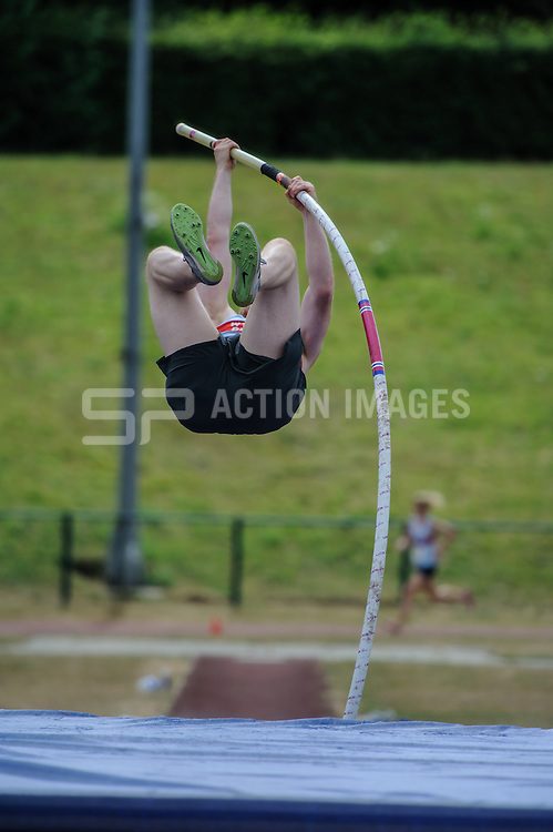 Action from the Men's Pole Vault in the Division 2 North match of the Southern Athletics League, Westminster Lodge, St Albans, Herts on the 20th July 2013