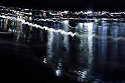 Local fisherman catching the Bioluminescent Firefly Squid (Watasenia scintillans) ( ほたるいか , hotaru-ika ) along the shore of Toyama Bay, in the central Japan Sea.Toyama, Japan   Einheimische Fischer fangen den Leuchtkalmar (Watasenia scintillans) am Ufer der Toyama Bucht. Japan