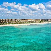 Aerial view of Grand Velas Riviera Maya hotel in Riviera Maya. Quintana Roo. Mexico.