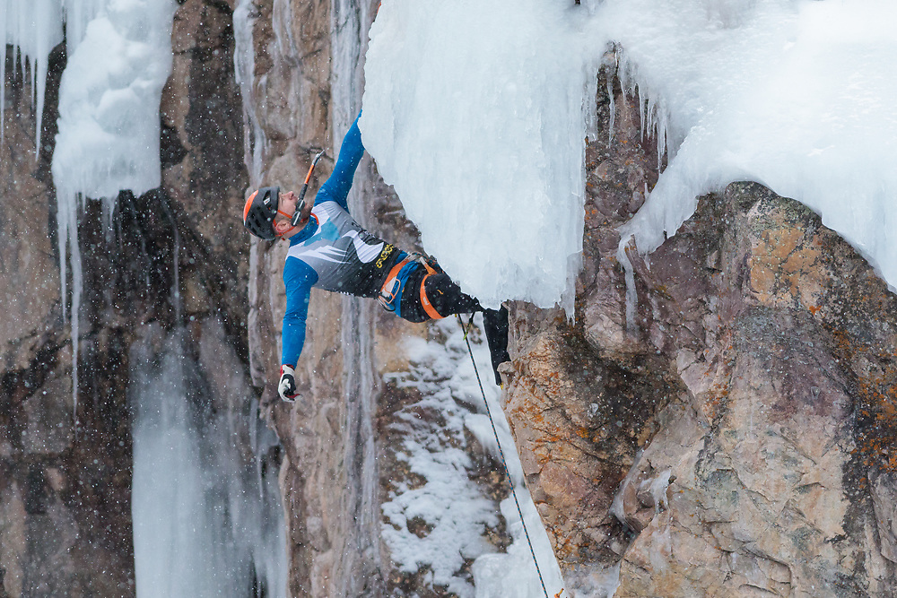 Climbing at the 2018 Ouray Mixed Climbing Competition