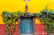 Decorative door display on the streets of San Miguel de Allende, Mexico