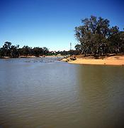 Meander with slip off slope beach, Murray River, Mildura, Australia