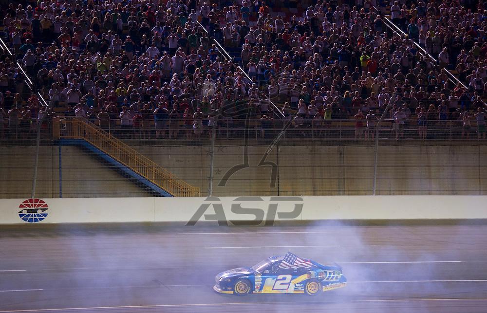 Sparta, KY - JUN 30, 2012:  Brad Keselowski (2) wins the Quaker State 400 at Kentucky Speedway in Sparta, KY.
