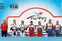 MOTORSPORT - WRC 2010 - RALLY OF TURKEY - <br /> ISTANBUL (TUR) - 15 TO 18/04/2010 - PHOTO : FRANCOIS BAUDIN / DPPI <br /> OLIVIER QUESNEL (FRA) - CITROEN WRT - CITROEN RACING DIRECTOR / DIRECTEUR - AMBIANCE PORTRAIT PHIL MILLS (GBR) - PETTER SOLBERG WRT - CITROEN C4 WRC - AMBIANCE PORTRAIT PETTER SOLBERG (NOR) - PETTER SOLBERG WRT - CITROEN C4 WRC - AMBIANCE PORTRAIT DANIEL ELENA (MON) - CITROEN TOTAL RALLY TEAM - CITROEN C4 WRC - AMBIANCE PORTRAIT SEBASTIEN LOEB (FRA) - CITROEN TOTAL RALLY TEAM - CITROEN C4 WRC - AMBIANCE PORTRAIT JARMO LEHTINEN (FIN) - BP FORD ABU DHABI - FORD FOCUS WRC - AMBIANCE PORTRAIT MIKKO HIRVONEN (FIN) - BP FORD ABU DHABI - FORD FOCUS WRC - AMBIANCE PORTRAIT PODIUM