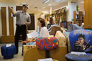Moscow, Russia, 18/06/2006..Customers in a branch of the Shatura furniture store chain.