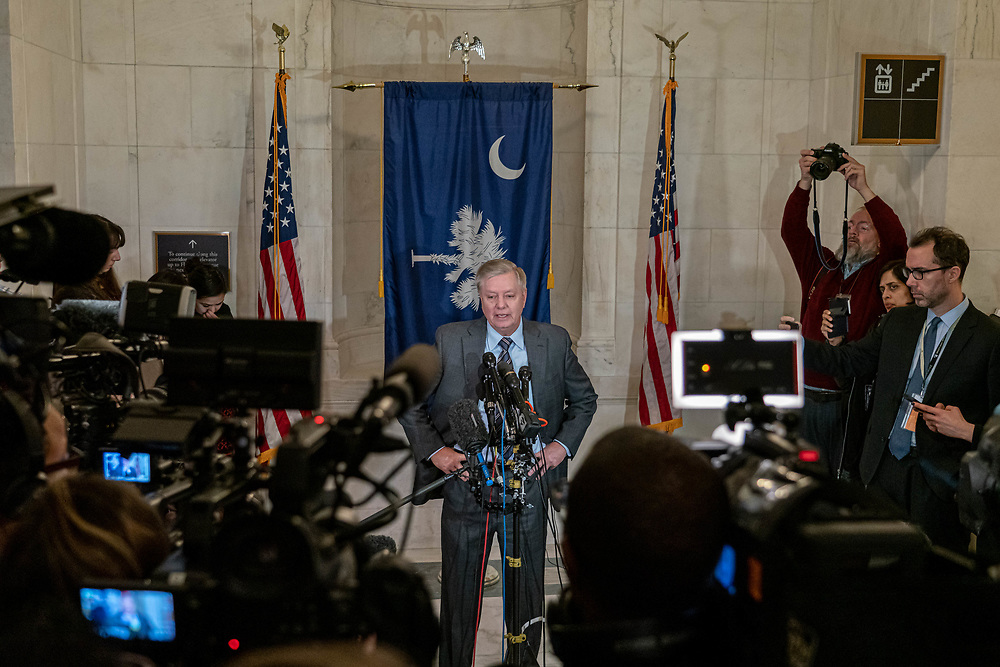 Michael Horowitz, Department of Justice Inspector General testifies before the Senate committee on FISA investigation hearing on Capital Hill Dec. 18, 2019, Washington DC. This hearing is happening as the full House votes on two articles of impeachment against President Donald John Trump onThis will be the fourth time an American President has faced impeachment. The president is accused of obstruction of Congress and abuse of power.     Photo Credit: Ken Cedeno/Sipa USA