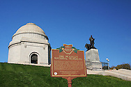 McKinley National Memorial.  President William McKinley. 25th president.  Historic Marker. Canton, Ohio.