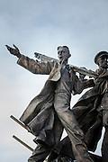 Monument to first builders of Komsomolsk-on-Amur.Komsomolsk-on-Amur.Siberia, Russia