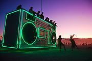 500px Photo ID: 4399947 - dancers in front of the boombox art car at burningman 2011, black rock city, nevada