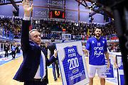 DESCRIZIONE : Brindisi  Lega A 2015-16 Enel Brindisi Pasta Reggia Juve Caserta<br /> GIOCATORE : GIOCATORE : Piero Bucchi Andrea Zerini<br /> CATEGORIA : Before Pregame Allenatore Coach Mani<br /> SQUADRA : Enel Brindisi <br /> EVENTO : Enel Brindisi Pasta Reggia Juve Caserta<br /> GARA :Enel Brindisi  Pasta Reggia Juve Caserta<br /> DATA : 24/04/2016<br /> SPORT : Pallacanestro<br /> AUTORE : Agenzia Ciamillo-Castoria/M.Longo<br /> Galleria : Lega Basket A 2015-2016<br /> Fotonotizia : <br /> Predefinita :