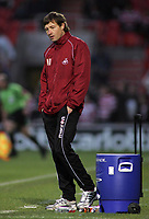 "Photo: Paul Thomas.<br /> Doncaster Rovers v Swansea City. Coca Cola League 1. 17/02/2007.<br /> <br /> Dejected ""stand in"" manager Kevin Nugent of Swansea at the full-time whistle."