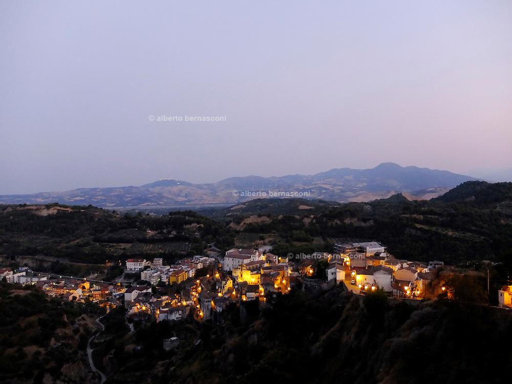 BASILICATA, view of Tursi from Rabatana