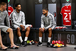Nahki Wells of Bristol City looks on in the home dressing room - Rogan/JMP - 27/09/2020 - Ashton Gate Stadium - Bristol, England - Bristol City v Sheffield Wednesday - Sky Bet Championship.