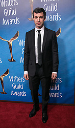 February 17, 2019 - Beverly Hills, California, U.S - Nathan Fielder in the red carpet of the 2019 Writers Guild Awards at the Beverly Hilton Hotel on Sunday February 17, 2019 in Beverly Hills, California. JAVIER ROJAS/PI (Credit Image: © Prensa Internacional via ZUMA Wire)