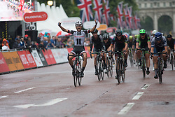 Coryn Rivera (USA) of Team Sunweb wins the Prudential Ride London Classique - a 66 km road race, starting and finishing in London on July 29, 2017, in London, United Kingdom. (Photo by Balint Hamvas/Velofocus.com)