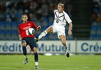 Fotball<br /> Frankrike 2004/05<br /> Lille v Bordeaux<br /> 21. august 2004<br /> Foto: Digitalsport<br /> NORWAY ONLY<br />  LILIAN LASLANDES (BOR) / MATHIEU BODMER (LIL)