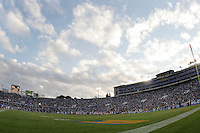 11 November 2006: Wide angle overview with sunset clouds from the infield during the UCLA Bruins 25-7 win over the Oregon State Beavers Pac-10 college football game at the Rose Bowl.<br />