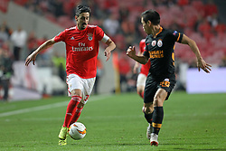 February 21, 2019 - Lisbon, Portugal - André Almeida of SL Benfica in action during the Europa League 2018/2019 footballl match between SL Benfica vs Galatasaray AS. (Credit Image: © David Martins/SOPA Images via ZUMA Wire)