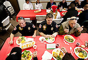 Murray High School ProStart class serves a holiday buffet luncheon at Fire Station 81 in Murray, Wednesday, Dec. 19, 2012. ProStart is a national program for students to learn culinary and management skills in anticipation of working the restaurant business or attending culinary school.