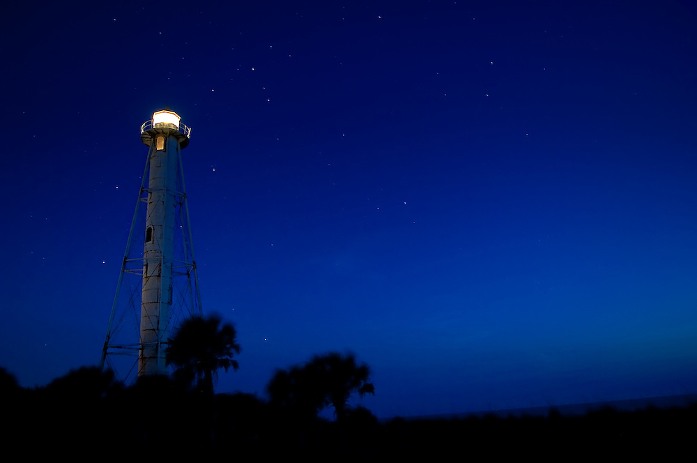 The Boca Grande Lighthouse on Florida's Gulf Coast on Gasparilla Island.