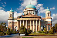 Exterior of the Neo Classical Esztergom Basilica, Cathedral ( Esztergomi Bazilika ), Hungary. .<br /> <br /> Visit our HUNGARY HISTORIC PLACES PHOTO COLLECTIONS for more photos to download or buy as wall art prints https://funkystock.photoshelter.com/gallery-collection/Pictures-Images-of-Hungary-Photos-of-Hungarian-Historic-Landmark-Sites/C0000Te8AnPgxjRg .<br /> <br /> Visit our EARLY MODERN ERA HISTORICAL PLACES PHOTO COLLECTIONS for more photos to buy as wall art prints https://funkystock.photoshelter.com/gallery-collection/Modern-Era-Historic-Places-Art-Artefact-Antiquities-Picture-Images-of/C00002pOjgcLacqI