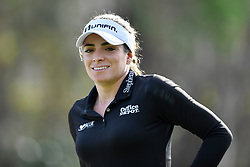 January 19, 2019 - Lake Buena Vista, FL, U.S. - LAKE BUENA VISTA, FL - JANUARY 19: Gaby Lopez of Mexico smiles after her drive on hole 2 during the third round of the Diamond Resorts Tournament of Champions on January 19, 2019, at Tranquilo Golf Course at Fours Seasons Orlando in Lake Buena Vista, FL. (Photo by Roy K. Miller/Icon Sportswire) (Credit Image: © Roy K. Miller/Icon SMI via ZUMA Press)