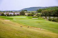 23-10-2018 Almenara Golf Club in Sotogrande, Cádiz, ontworpen door Dave Thomas.<br /> ALMENARA: Green hole 3 Los Lagos