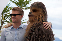 Actor Joonas Suotamo and his character Chewbacca at the Solo: A Star Wars Story film photo call at the 71st Cannes Film Festival, Tuesday 15th May 2018, Cannes, France. Photo credit: Doreen Kennedy