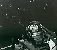 1957 Joe E. Brown at the Christmas Santa Claus Lane Parade on Hollywood Blvd.
