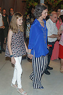 Queen Sofia and princess Leonor attend Ara Malikian concert at Port Adriano in Palma de Mallorca, Spain on 1st of August of 2018.