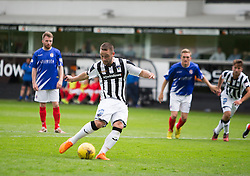 Dunfermline's Ryan Wallace misses their penalty. <br /> Dunfermline 7 v 1 Cowdenbeath, SPFL Ladbrokes League Division One game played 15/8/2015 at East End Park.