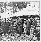 General Meade, his chief and friend, Major-General John Sedgwick, commanding the Sixth Army Corps. from the book ' The Civil war through the camera ' hundreds of vivid photographs actually taken in Civil war times, sixteen reproductions in color of famous war paintings. The new text history by Henry W. Elson. A. complete illustrated history of the Civil war