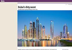 The Sun; Skyline of Dubai at night