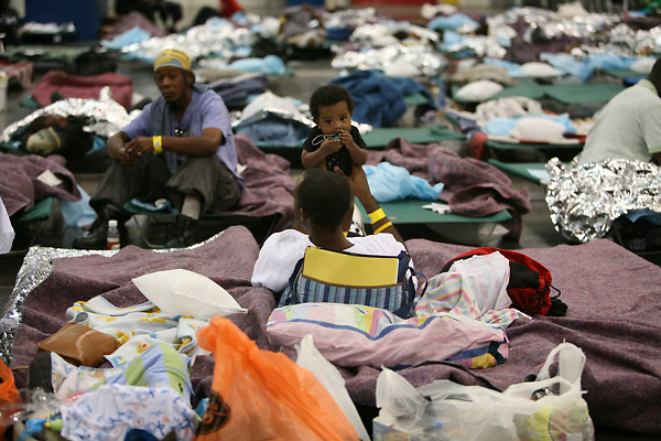 Stock photo of shelter for those displaced by Hurricane Ike
